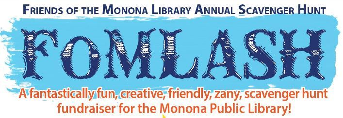 Friends of Monona Library Annual Scavenger Hunt fundraiser graphic